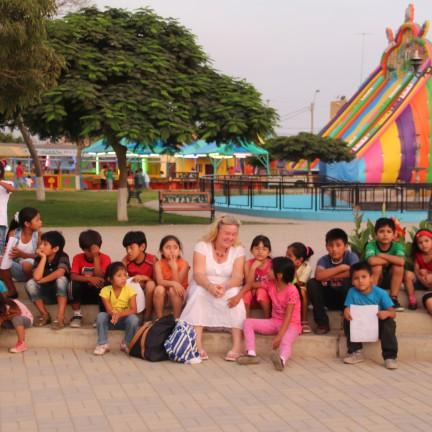 Nazca børn i Peru